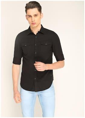 Splash Men Regular Fit Casual shirt - Black