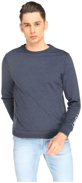 Splash Men Cotton Sweatshirt - Blue