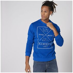 Splash Men Cotton Sweatshirt - Blue