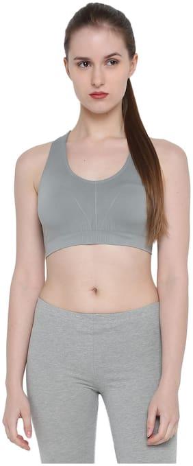 Splash Women Nylon Solid - Regular top Grey