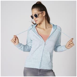 Splash Women Self design Regular jacket - Blue