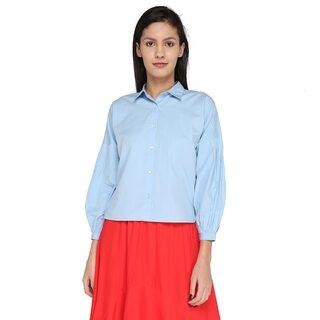 Splash Women Blue Coloured Shirts