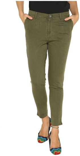 Splash Women Green Trouser