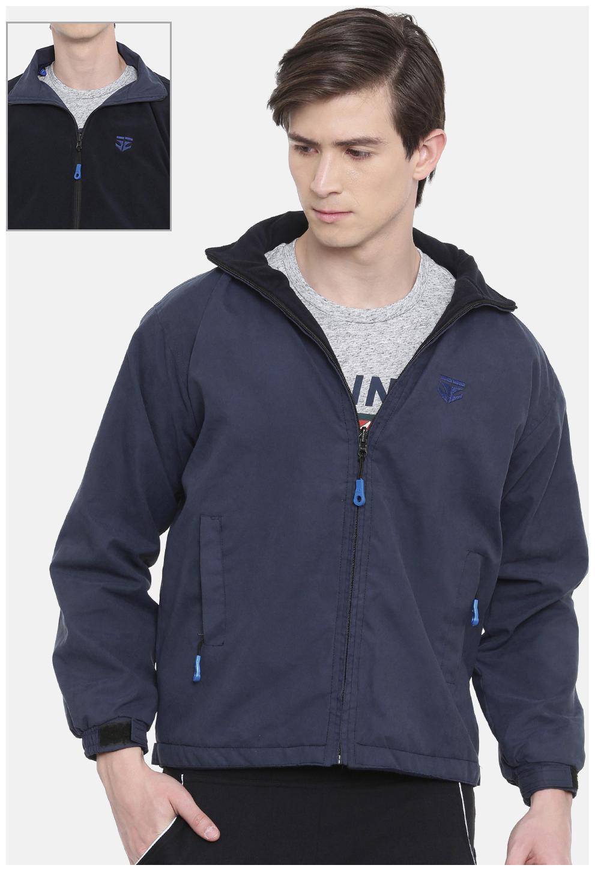 SPORTS 52 WEAR Men Polyester Reversible Jackets Blue;Black Color
