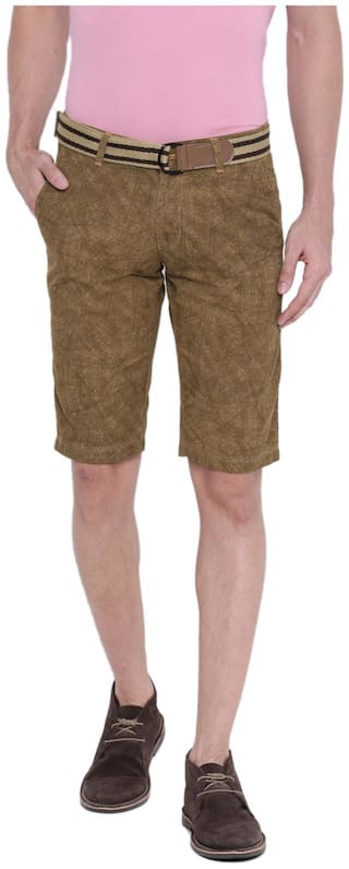 SPORTS 52 WEAR Men's Cotton Basic Shorts S52W151244_Khakhi_30 / M