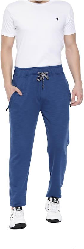 SPORTS 52 WEAR Men Cotton blend Track Pants - Blue