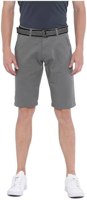 Sports52 wear Men's Cotton Grey Chino Shorts