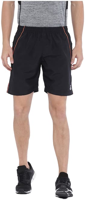 Sports52 wear Men's Polyester Black Sports Shorts