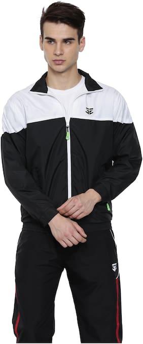 SPORTS 52 WEAR Men Polyester Jacket - Black