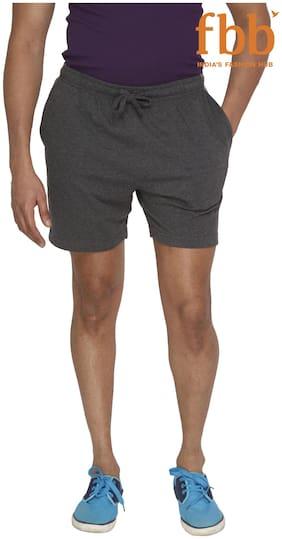 Spunk Anthra Melange Solid Men's Shorts