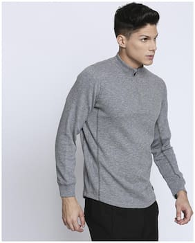 Spunk Men Cotton Sweatshirt - Grey