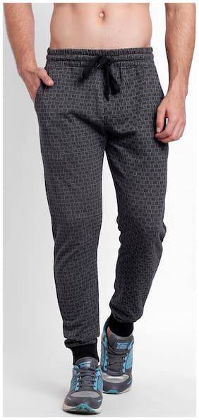 Spunk Men Cotton Blend Track Pants - Grey
