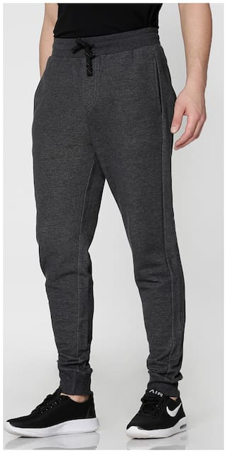Spunk Men Poly cotton Track Pants - Grey