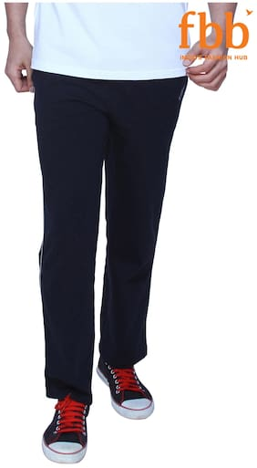 Spunk Men Cotton Track Pants - Blue