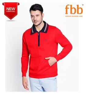 Spunk Men Blended Sweatshirt - Red