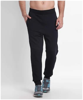 Spunk Men Cotton Track Pants - Black