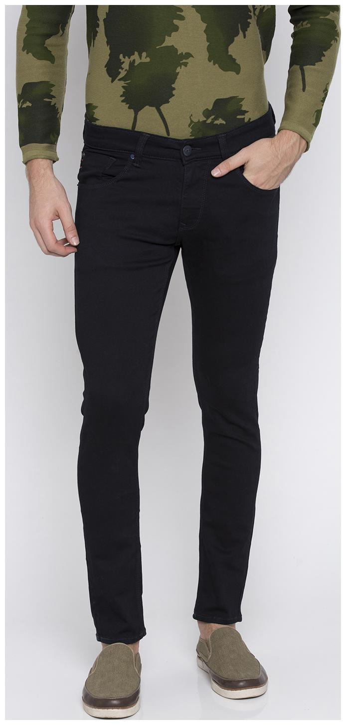 Spykar Men Black Super Skinny Fit Jeans by Rubix Enterprises