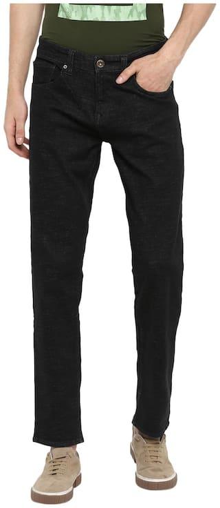 Spykar Men Black Straight Fit Jeans