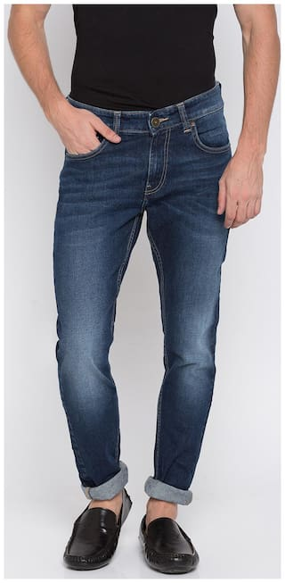 Spykar Men Blue Super Skinny Fit Jeans