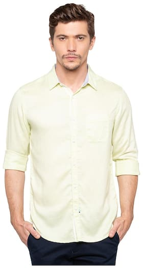Spykar Men Slim Fit Casual shirt - Yellow