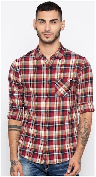 Spykar Men Multi Checked Slim Fit Casual Shirt