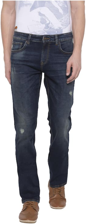 Men Straight Fit Mid Rise Jeans Pack Of 1