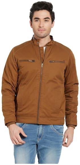 Men Cotton Long Sleeves Biker Jacket