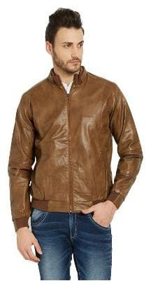 Men Leather Long Sleeves Jacket