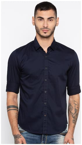 Men Slim Fit Solid Casual Shirt ,Pack Of Pack Of 1