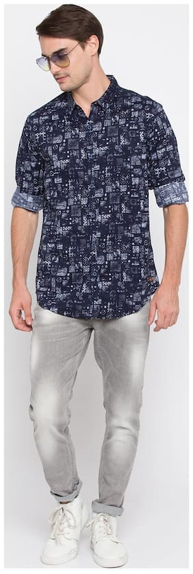 Men Slim Fit Abstract Casual Shirt Pack Of 1