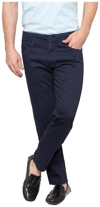 Spykar Men Navy blue Solid Slim fit Chinos