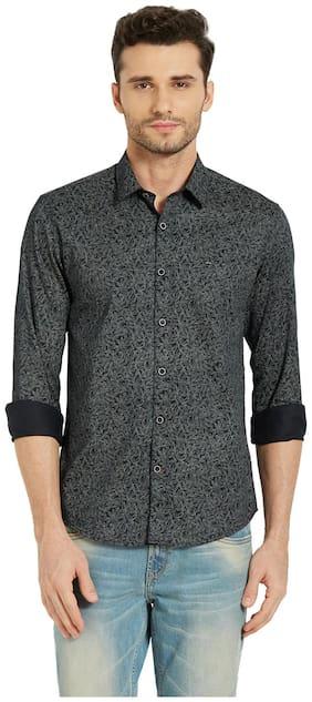 Men Slim Fit Floral Casual Shirt
