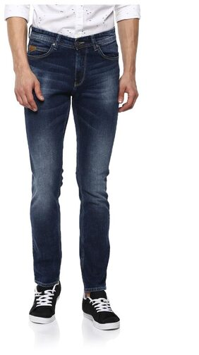 Spykar Men Low Rise Tapered Fit ( Rover Ft ) Jeans - Blue