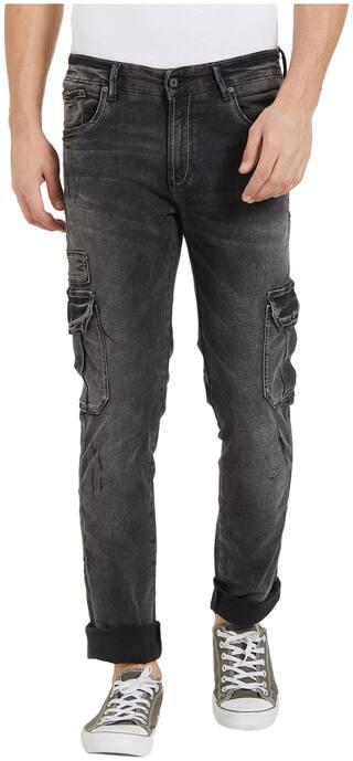 Spykar Men Low rise Tapered fit Jeans - Black