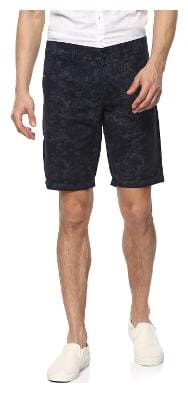 Spykar Men Blue Slim Fit Regular Shorts