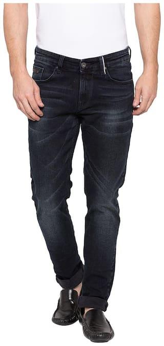 Spykar Men Black Skinny Fit Jeans