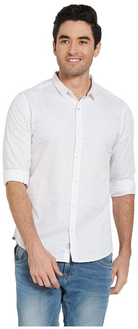 Spykar Men Slim Fit Casual shirt - White