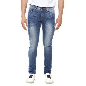 Spykar Mens Blue Super Skinny Fit Low Rise Jeans