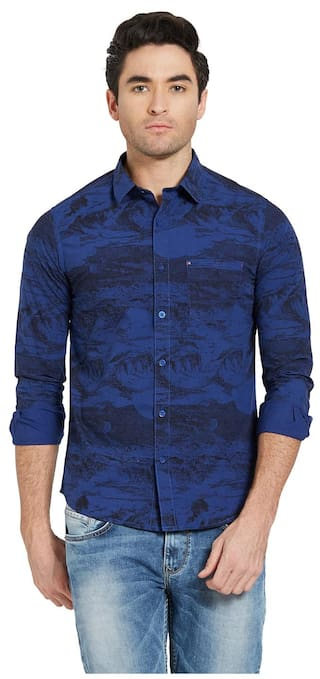 Spykar Men Slim Fit Casual shirt - Blue