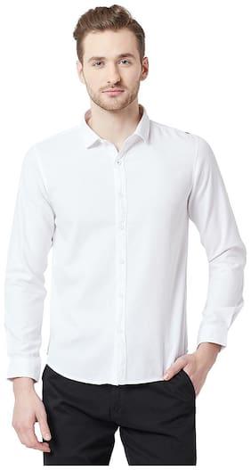 Men Slim Fit Solid Casual Shirt