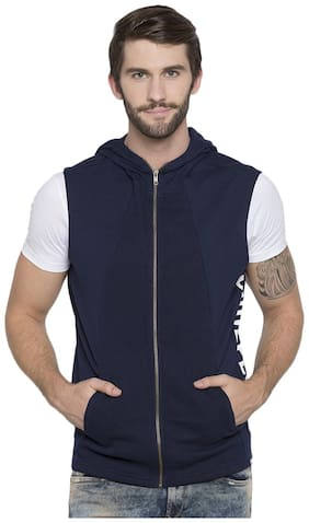 Men Cotton Sleeveless Quilted Jacket