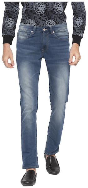Men Tapered Fit Low Rise Jeans
