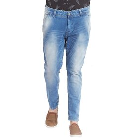 Spykar Mens Mid Blue Slim Fit Low Rise Jeans