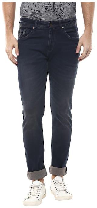Spykar Men Navy Blue Super Skinny Fit Jeans