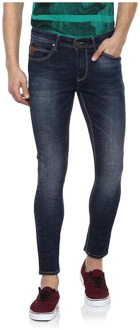 Spykar Mens Blue Super Skinny Fit Low Rise Jeans