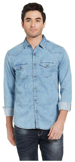 Spykar Men Slim Fit Casual shirt - Blue