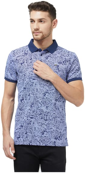 Men Polo Neck Printed T-Shirt