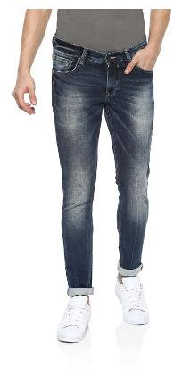 Spykar Men High Rise Regular Fit ( Super Skinny Fit ) Jeans - Blue