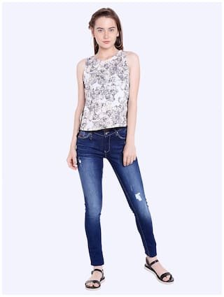 Fit Fit Skinny Blue Womens Rise Mid Low Actif Jeans Spykar Uxw1PInqP