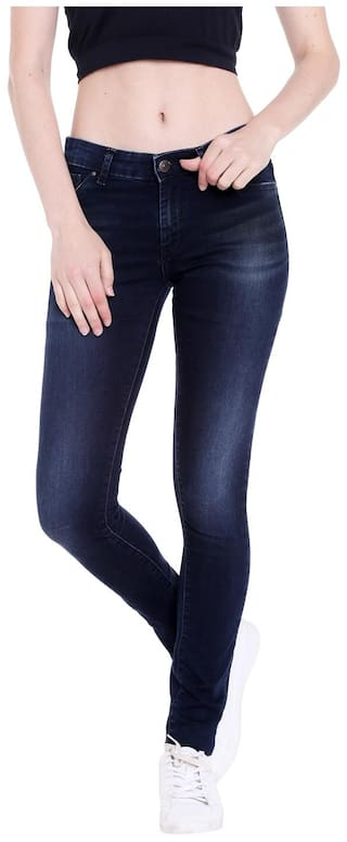 Spykar Womens Blue Jegging Fit Low Rise Jeans (Giselle Fit)